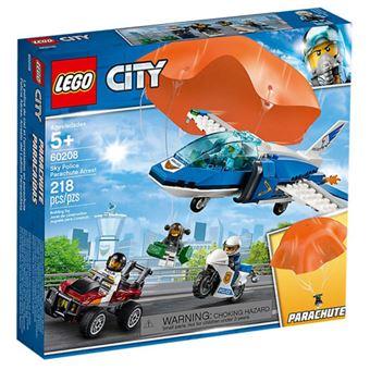 LEGO City Police 60208 Polícia Aérea - Detenção de Paraquedas