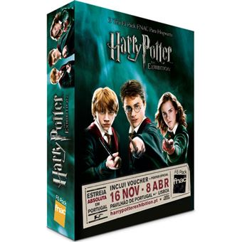 Fã Pack FNAC Harry Potter: The Exhibition - Família I  Preço: 45€ Pack + 3.32€ Custos de Operação