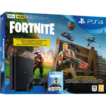 Consola Sony PS4 500GB Black + Fortnite