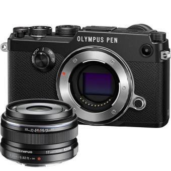 Olympus PEN-F (Preto) + M. Zuiko Digital 17mm f/1.8 (Preto)