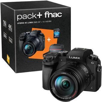 Panasonic Lumix DMC-G7 + G Vario 14-140mm f/3.5-5.6 Pack Fnac (Black)