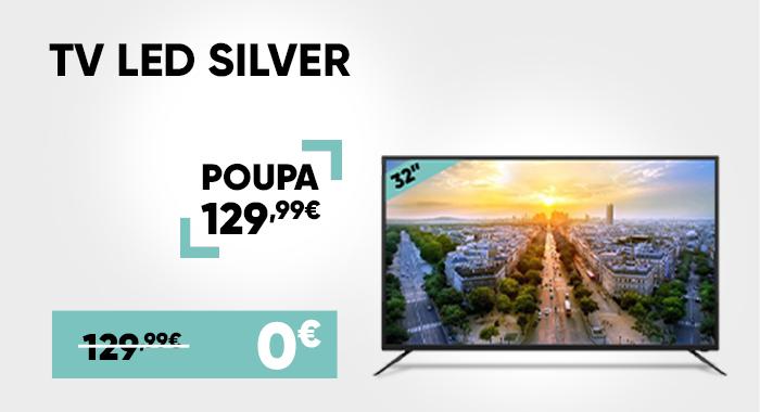 TV LED Silver