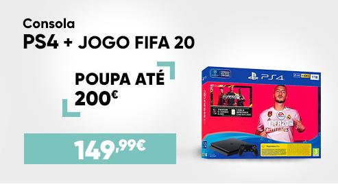Consola PS4 + Jogo FIFA20