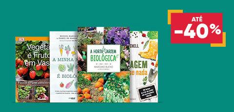 Livros de Jardinagem e<br> Hortas Biológicas