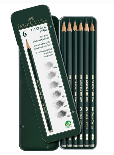 c3f4bb6860 Lápis de Grafite Faber-Castell 9000 - 6 Unidades - LAPIS CERA