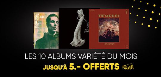 10 Albums Variété du Mois