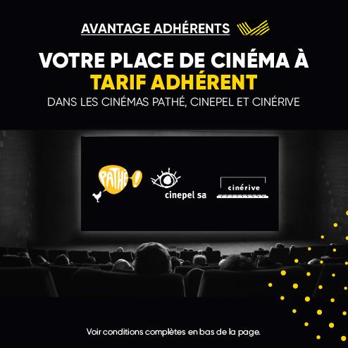 Votre place de cinéma à tarif préférentiel dans les cinémas Pathé & Cinepel de Genève, Lausanne, Neuchâtel et La Chaux-de-fonds