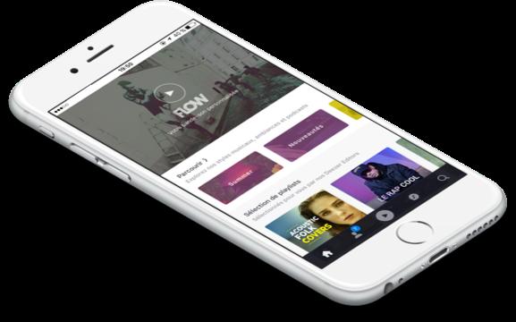 Deezer sur smartphone