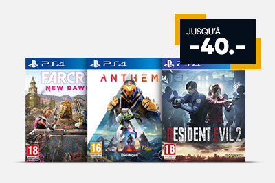 2 jeux PS4 = 35.-