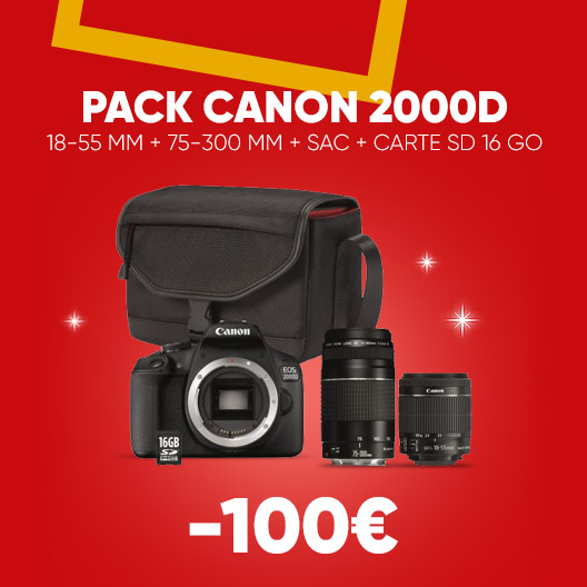 Canon 2000D Pack