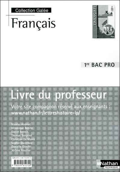 Francais 1ere bac pro (galee)
