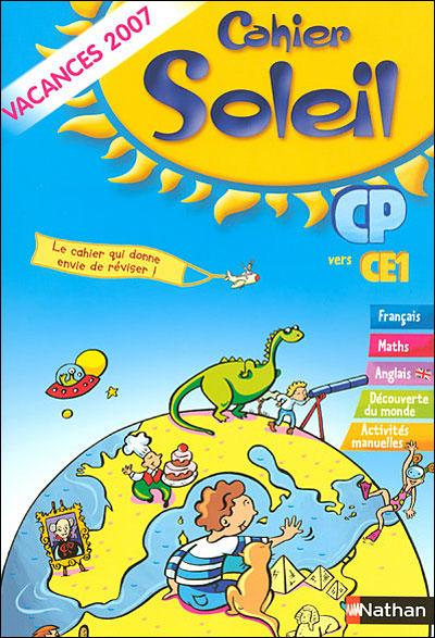 Cahier Soleil, du CP vers le CE1