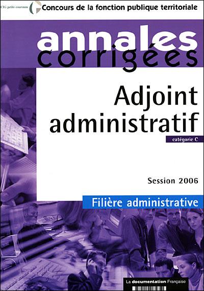Adjoint administratif catégorie C session 2006