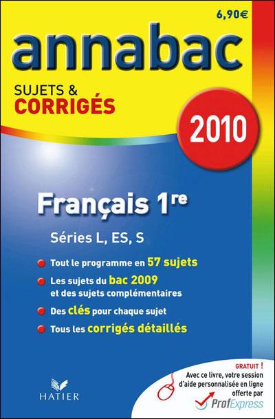 Annabac corrigés Français 1ère toutes séries