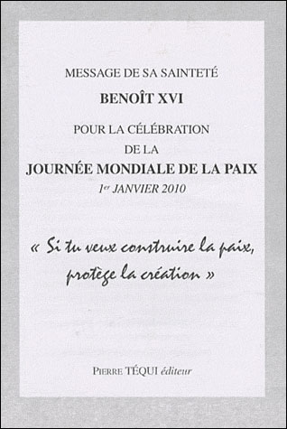 Message de Sa Sainteté Benoît XVI pour la célébration de la journée mondiale de la paix