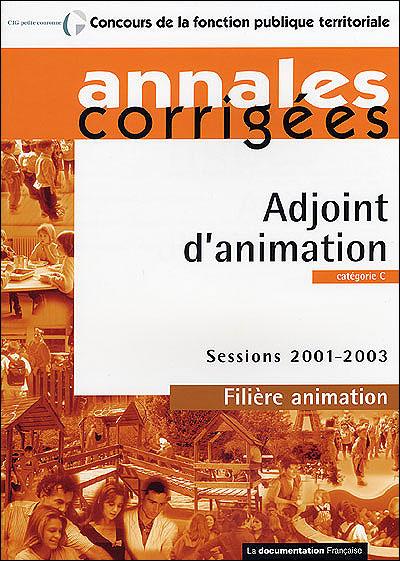 Adjoint d'animation filière animateur