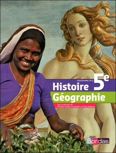 Histoire Géographie 5e 2010 Manuel de l'élève Grand format