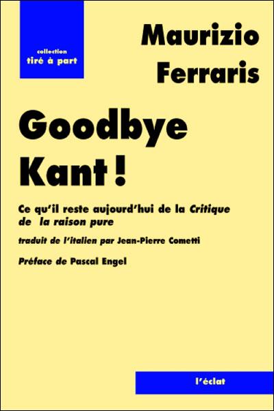 Good bye kant !