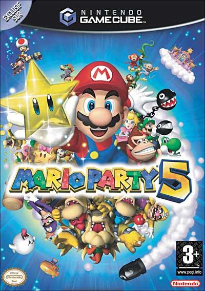 """Les jeux Gamecube avec la mention """"Exclusif Sur"""" (la vignette bleue arrondie en haut à gauche) Mario-Party-5"""