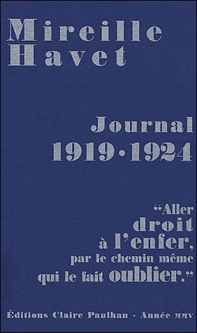 Journal 1919-1924