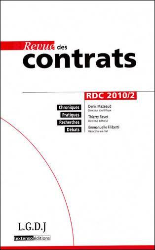 Des contrats