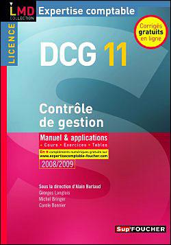 Contrôle de gestion Licence DCG Epreuve 11