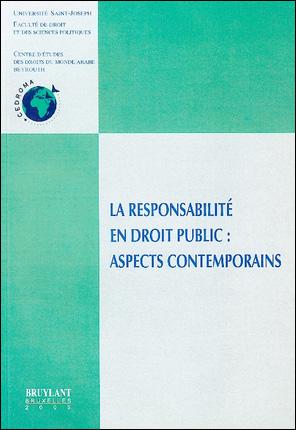 La responsabilité en droit public : aspects contemporains