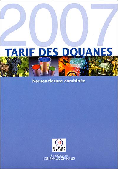 Tarif des douanes 2007