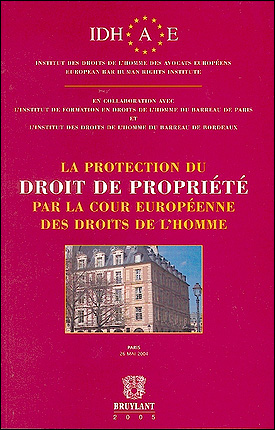 La protection du droit de propriété par la Cour Européenne