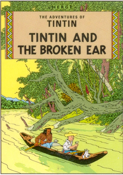 Tintin and the broken ear