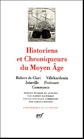 Historiens et chroniqueurs du moyen age