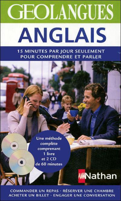 Anglais Pack Géolangues Livre + CD audio