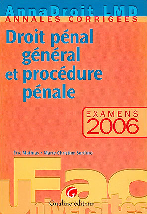 Droit pénal et procédure pénal