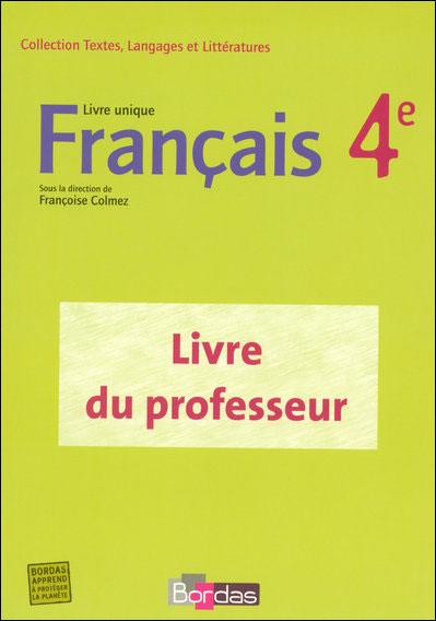 Francais 4e livre unique - gp