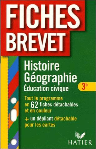 Fiches Brevet Histoire géographie 3ème