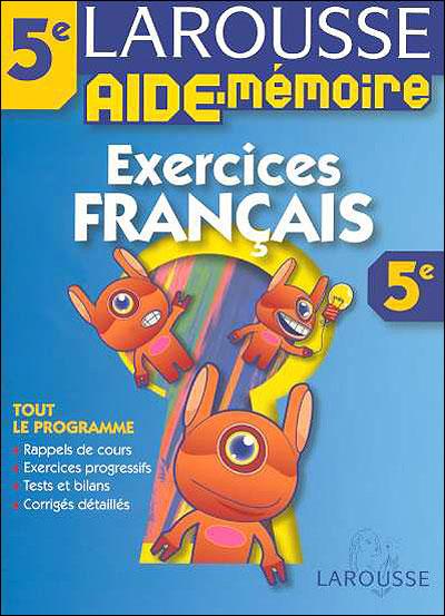 Mes exercices de Français 5ème