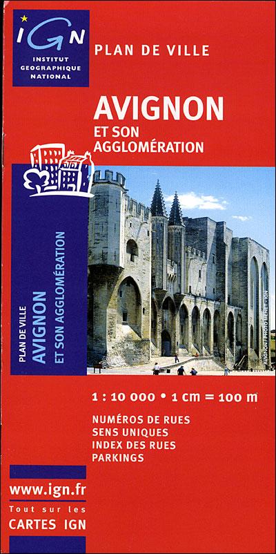 Plan d'Avignon avec livret