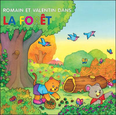 Romain et Valentin dans la forêt
