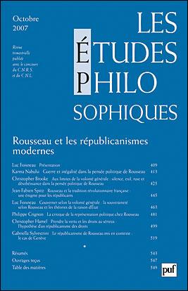 Les études philosophiques 2007