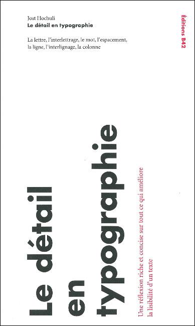 Le détail en typographie