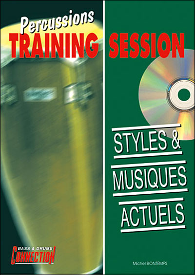 Styles & musiques actuels percussions training session + cd