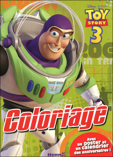 Toy Story -  : Coloriage avec poster Toy Story 3