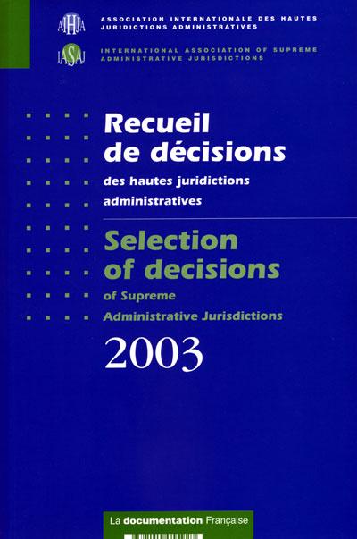 Recueil de décisions des hautes juridictions administratives