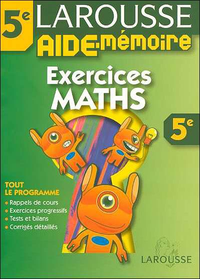 Mes exercices de Mathématiques 5ème