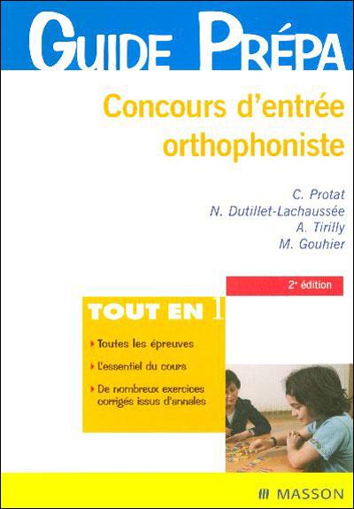 Concours d'entrée orthophoniste