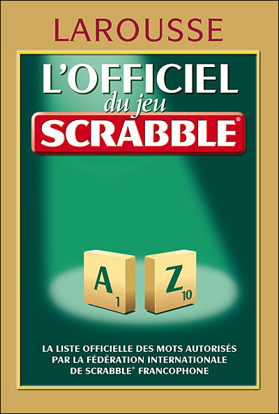 dictionnaire du scrabble. Black Bedroom Furniture Sets. Home Design Ideas
