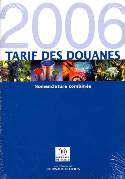 Tarif des douannes 2006