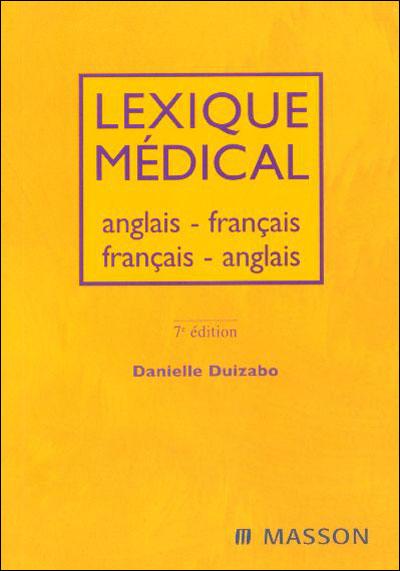 Lexique à l'usage des professionnels de santé - anglais-français/français-anglais