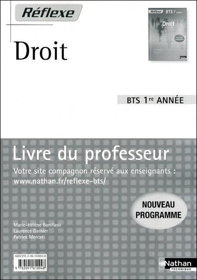 Droit bts 1 poch ref prof 2009