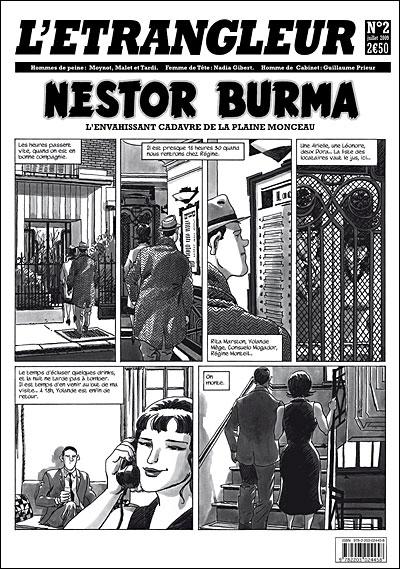 L'Etrangleur, N° 2, Juillet 2009 - Nestor Burma : L'envahissant cadavre de la plaine Monceau